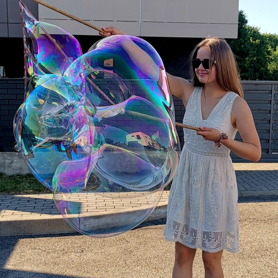 Didelių muilo burbulų rinkinys šeimai